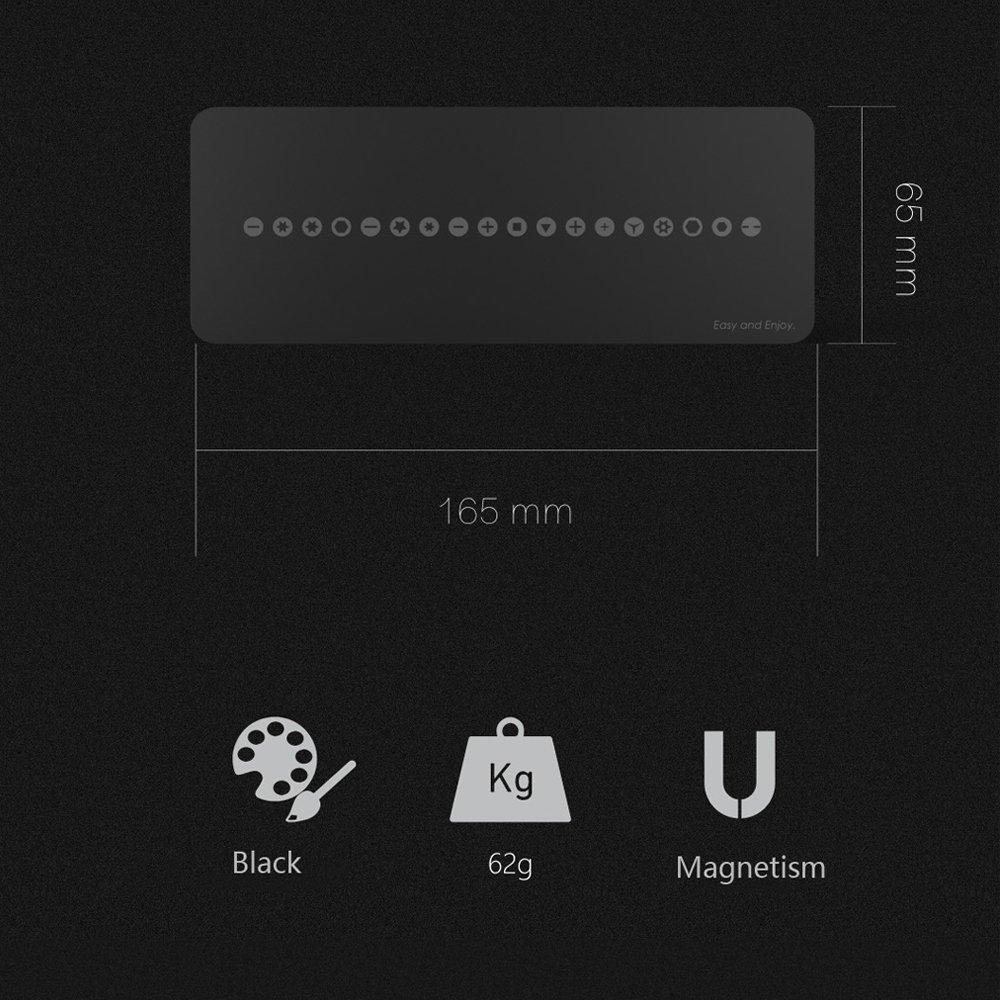Clous et T/él/éphone Portable Cadeau Unique pour Bricoleur Accessoires de R/éparation de Positionnement KKmoon 165 * 65mm Tapis Magn/étique Puissant pour Retenir Vis Con/çu pour Tous Les Projets