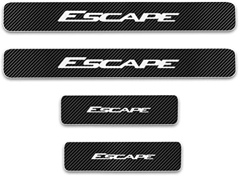 Door Entry Guard Sticker Carbon Fiber Style Threshold Bar Anti-Dirty Scuff Plate for Ford Escape Door Sill Protector 4pcs