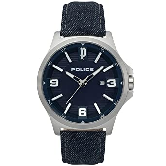 Stoff Analog 03 Police Quarz Uhr Mit Armband Pl15384js Herren Aq5cRjS3L4