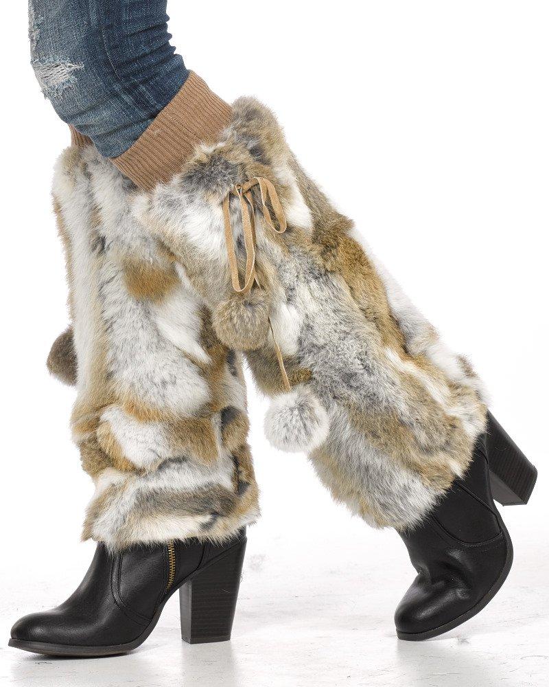 Natural Rabbit Fur Boot Covers/Leg Warmers