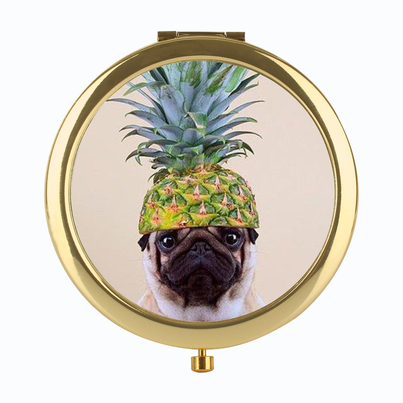 Pocket Purse Mirror Pug