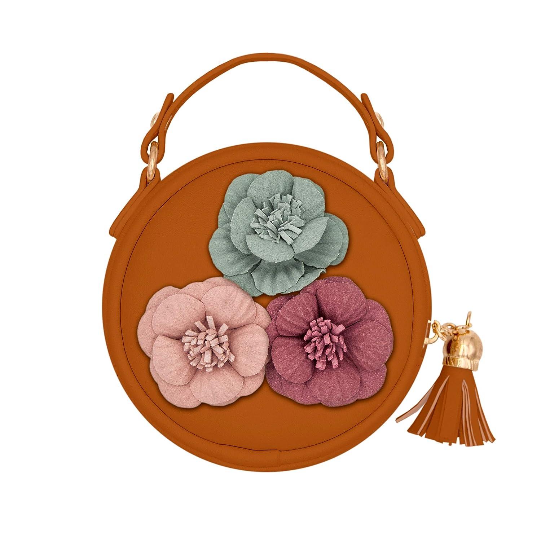 Girls Shoulder Bag Little Girls Handbag with Flower Mini Coin Bag Purse Small Wallet Bag Crossbody Bag for Girls Kids Toddler (Black)
