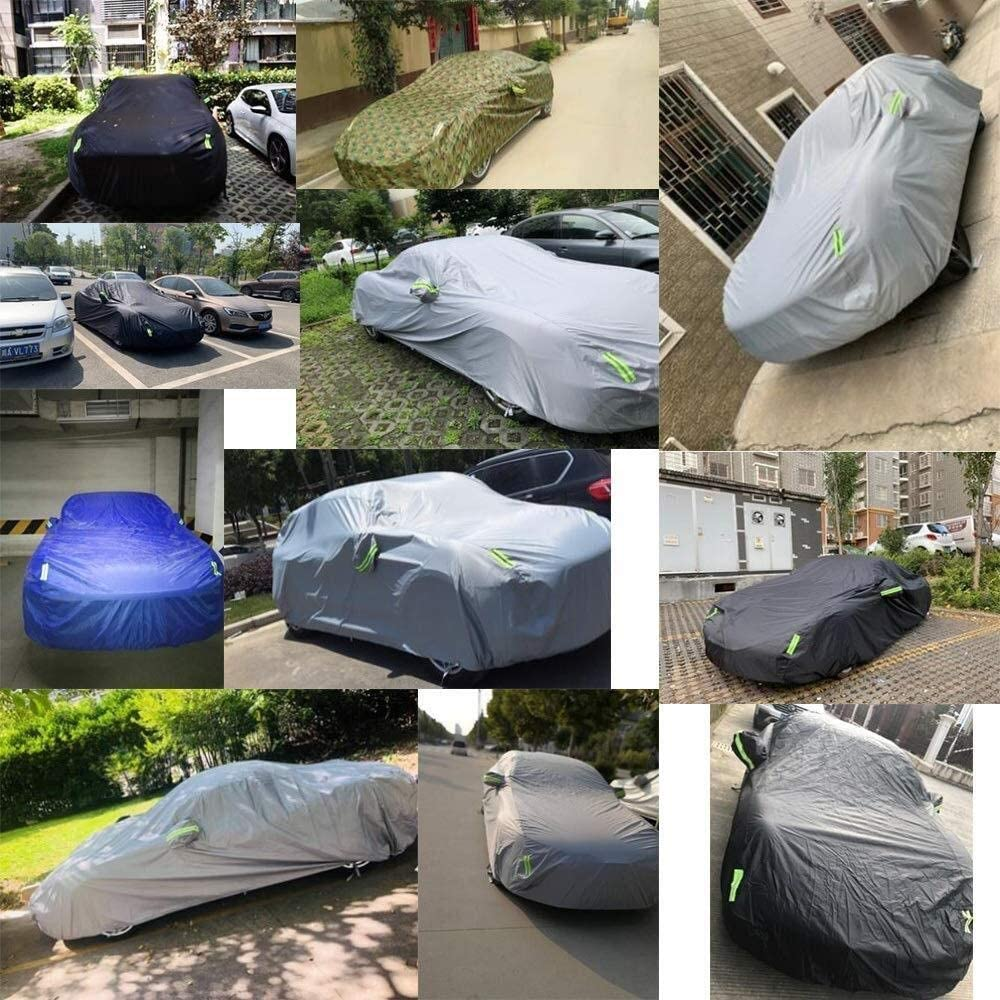 All-Weather Breathable Waterproof and UV Protection Car Cover Compatible with Kia Stinger Sun Protection Car Cover to Prevent Freezing and Hail Damage Color : Black