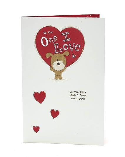 Tarjeta de San Valentín con texto en inglés «One I Love ...