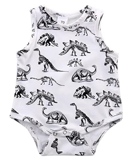 c684ecca59508 Infant Baby Girl Boy Clothes Dinosaurs Bodysuit Romper Playsuit Outfits  (0-3 Months