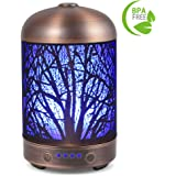 Aromatherapy Essential Oil Diffuser COOSA 100ml Ultrasonic Aroma Diffuser for Essential Oils Cool Mist Humidifier with 7 Color Changing LED Light Waterless Auto Shut-off for Baby Home Office Spa Yoga