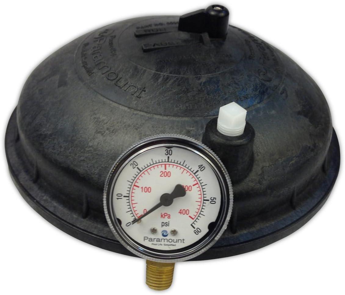Paramount 005-302-4300-03 Water Valve Top w/ Pressure Gauge - Black