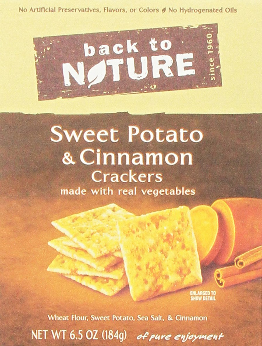 Back to Nature Sweet Potato & Cinnamon Crackers, 6.5-Ounce (Pack of 6)
