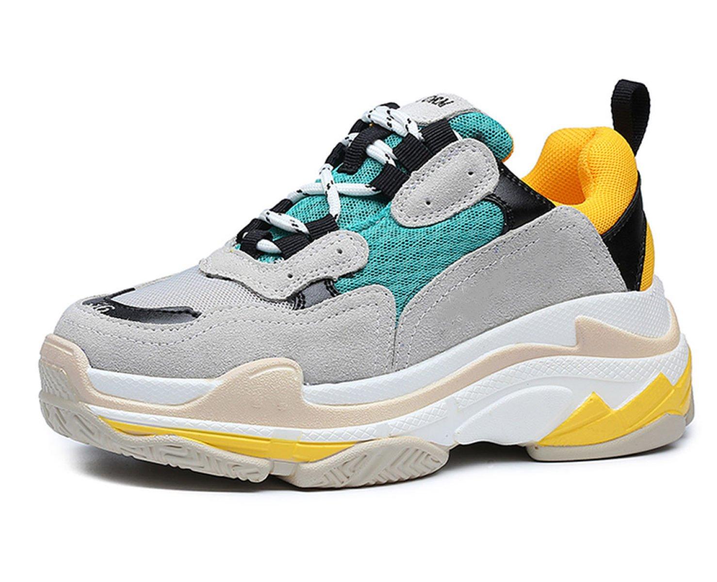 Yrps Zapatillas De Deporte Femeninas De La Primavera Zapatos Casuales Salvajes De La Muchacha Zapatillas De Deporte De La Moda 38 EU|A