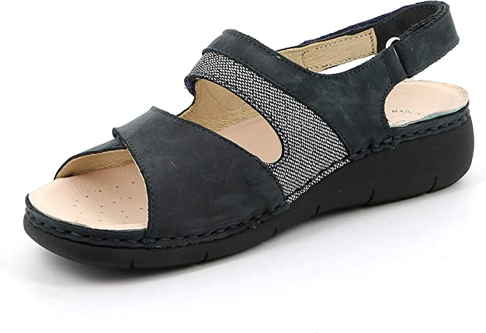 GR/ÜNLAND Womens DaraSE0474 Orthotic Friendly 3 Velcro Sandal