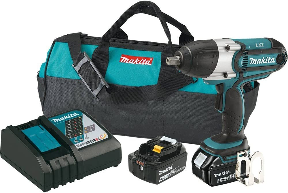 Makita XWT04MB18V LXT Lithium-Ion Cordless High Torque 1 2 Sq. Drive Impact Wrench Kit Discontinued by Manufacturer