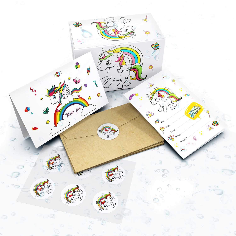Unicorn Invitations Birthday Party Cards