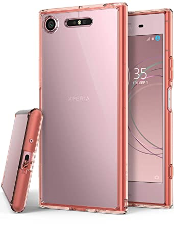 Ringke Fusion Compatible with Sony Xperia XZ1 Case Crystal Clear Minimalist Transparent PC Back TPU Bumper Drop Protection Scratch Resistant Natural ...