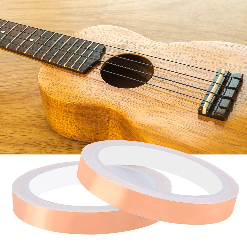 3 Pack 1//4-inch x 32.8 feet Copper Foil Tape with Double-Sided Conductive Adhesive for Guitar /& EMI Shielding Paper Circuits Grounding Electrical Repairs Slug Repellent Crafts