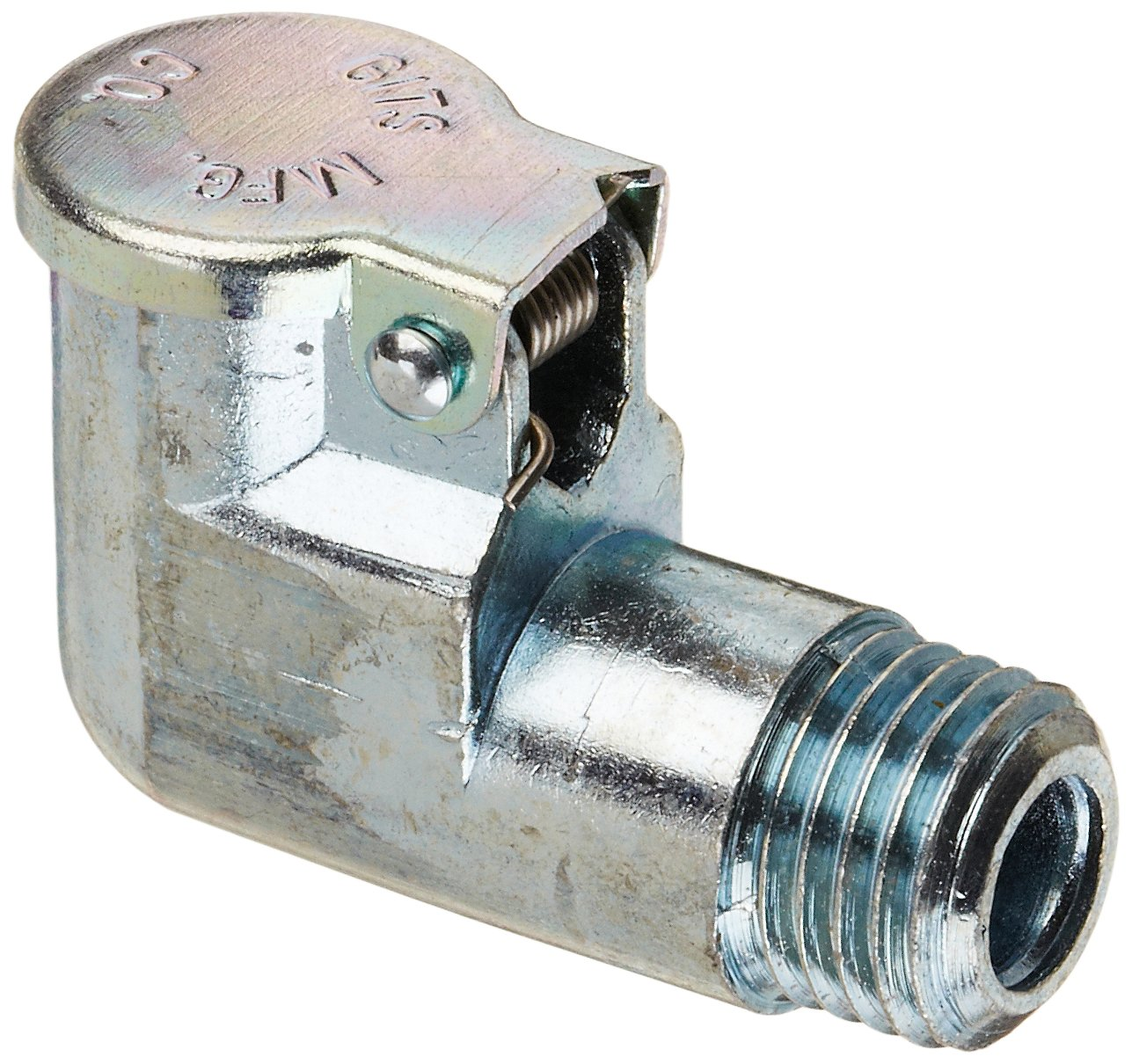 Gits 01206 Oil Hole Covers and Cup, Style L Elbow Threaded Oiler, 3/8''- 24 Male UNF, 25/32 Overall Height, 1-5/16 Assembly Clearance