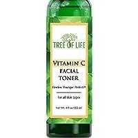 Vitamin C Facial Toner - 93% Organic - Pore Minimizing Anti Aging Facial Toner And Rejuvenator - 4 Ounce