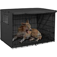 Explore Land 24 inches Dog Crate Cover - Durable Polyester Pet Kennel Cover Universal Fit for Wire Dog Crate (Black)