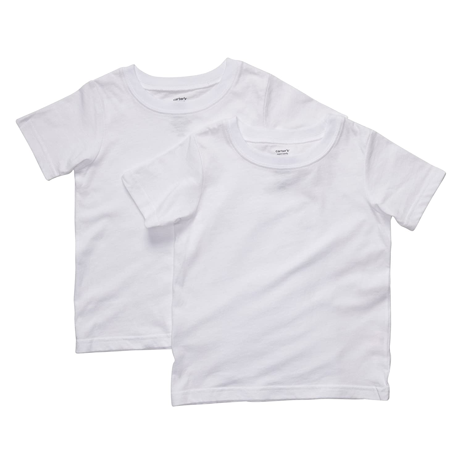 Carter's Boys 2-pack Short-sleeve Cotton Tee Set (4T/5T, White)