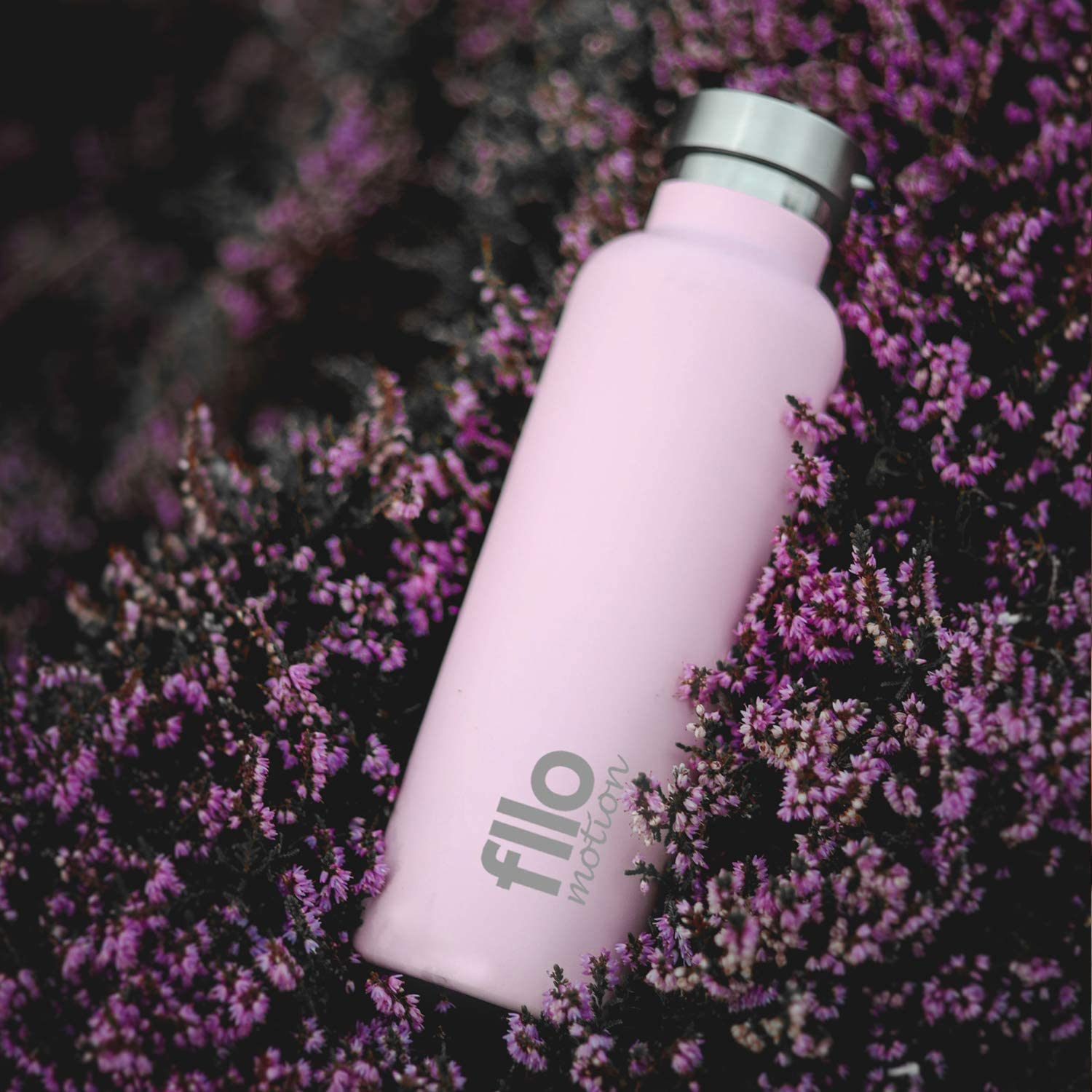 Keep Your Drink Hot and Cold-Reusable Stainless Steel and Sweat Proof Thermal Flask-Pink FLLOMOTION 24oz Vacuum Insulated Water Bottle with Wide Mouth and Leak Proof Lid