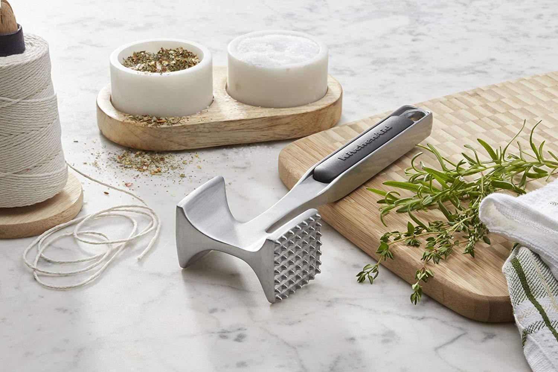 Renewed 9.5-Inch KitchenAid Textured Aluminum Meat Tenderizer Black