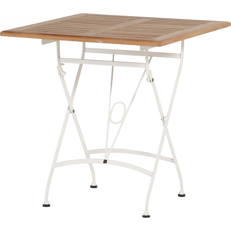4Seasons Outdoor Lindau Falt-Tisch faltbar Teakholz Stahl 70x70 cm 19240