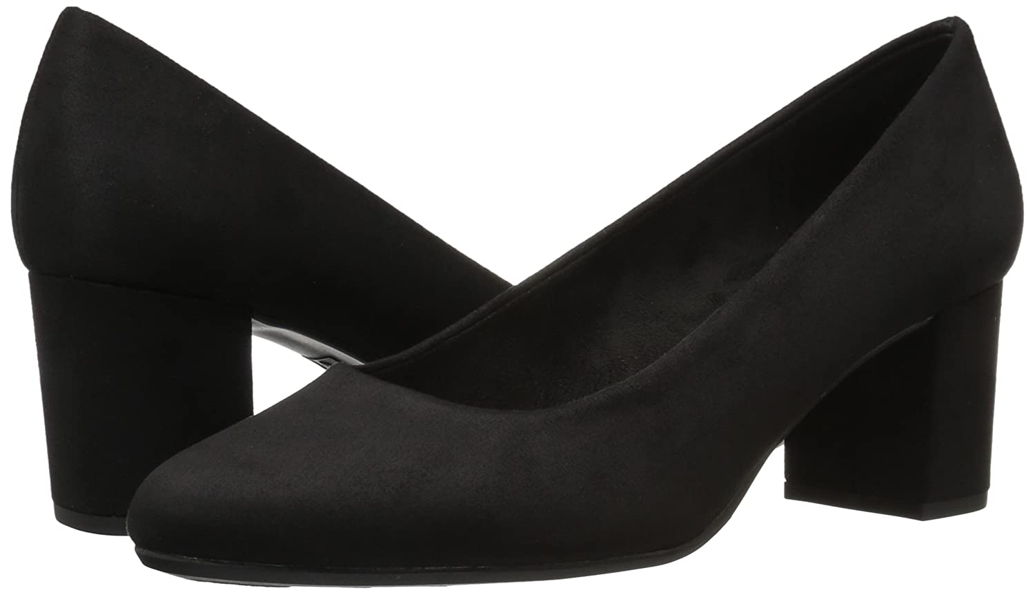 Easy Street Women's Proper Dress Pump B071J8LD8S 9.5 2W US|Black Super Suede