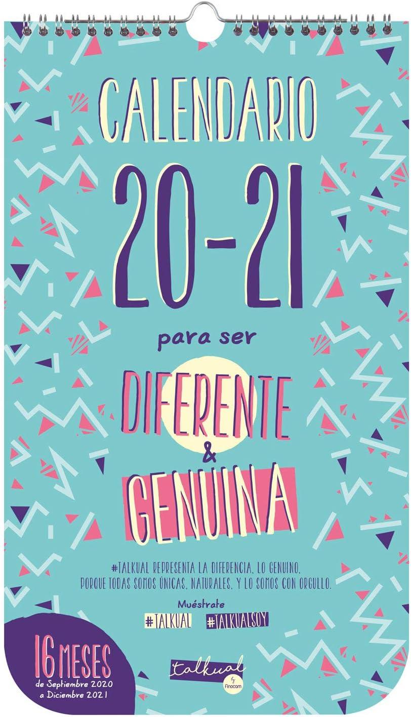 Finocam - Calendario de Pared 16 Meses 2020-2021 210x360 Mes Vista Talkual Basic Español