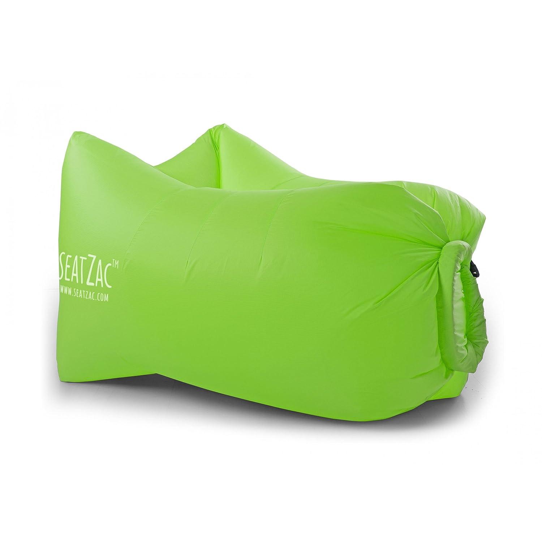 seatzac chillbag avec sacoche en polyester Vert Pouf Sac aérien Air Canapé