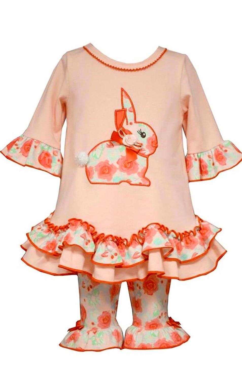 Bonnie JeanベビーガールズフローラルEaster Bunnyパンツセット 0 - 3 Months マルチカラー B019WZQE26