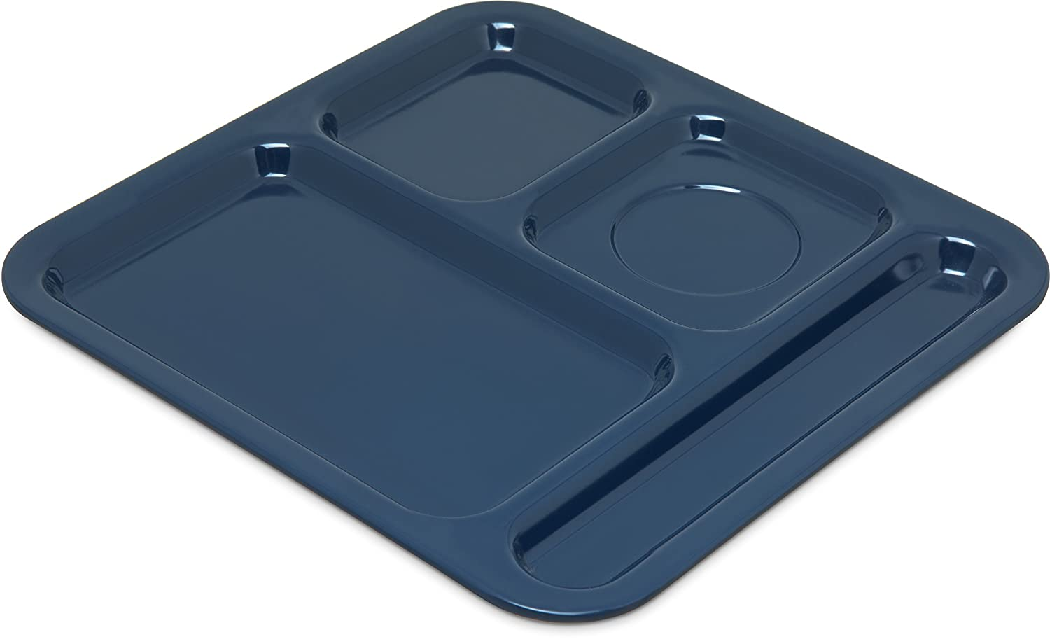 Carlisle 4398450 Right Hand 4-Compartment Cafeteria/Fast Food Tray, 10