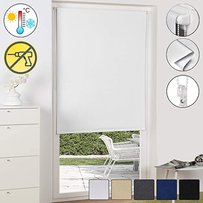 Sol Royal Sol Reflect T42 Persiana térmica Opaca Estor/Cortina Enrollable KLEMMFIX fijación fácil 70 x 210 cm Blanco: Amazon.es: Hogar