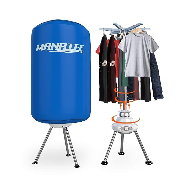 Manatee - Tendedero eléctrico portátil de 10 kg de Capacidad, Forma Redonda, Mejor Ahorro de energía, portátil, sin ventilación, secador, máquina de Secado ...