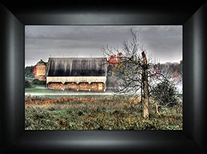 Amazon com: Misty Morning Barn By Todd Thunstedt 18x24 Farm