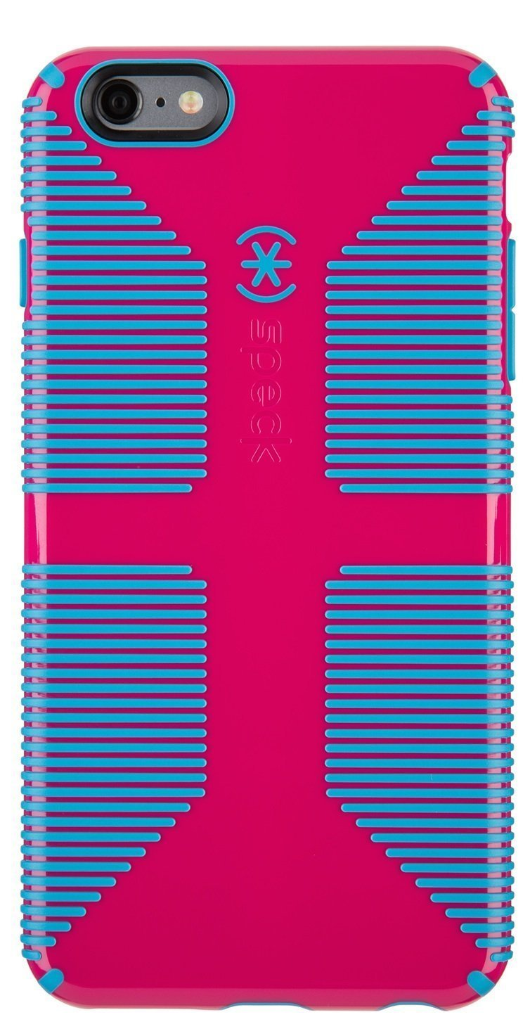outlet store db893 d57c9 Speck Products CandyShell Grip Case for iPhone 6 Plus/6S Plus - Lipstick  Pink/Jay Blue