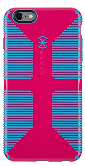 outlet store 96bca 4fabf Speck Products CandyShell Grip Case for iPhone 6 Plus/6S Plus - Lipstick  Pink/Jay Blue