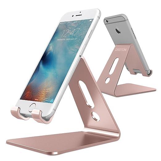 2 opinioni per Supporto da Tavolo , OMOTON 4 mm Spessore in Alluminio Supporto per Smartphone