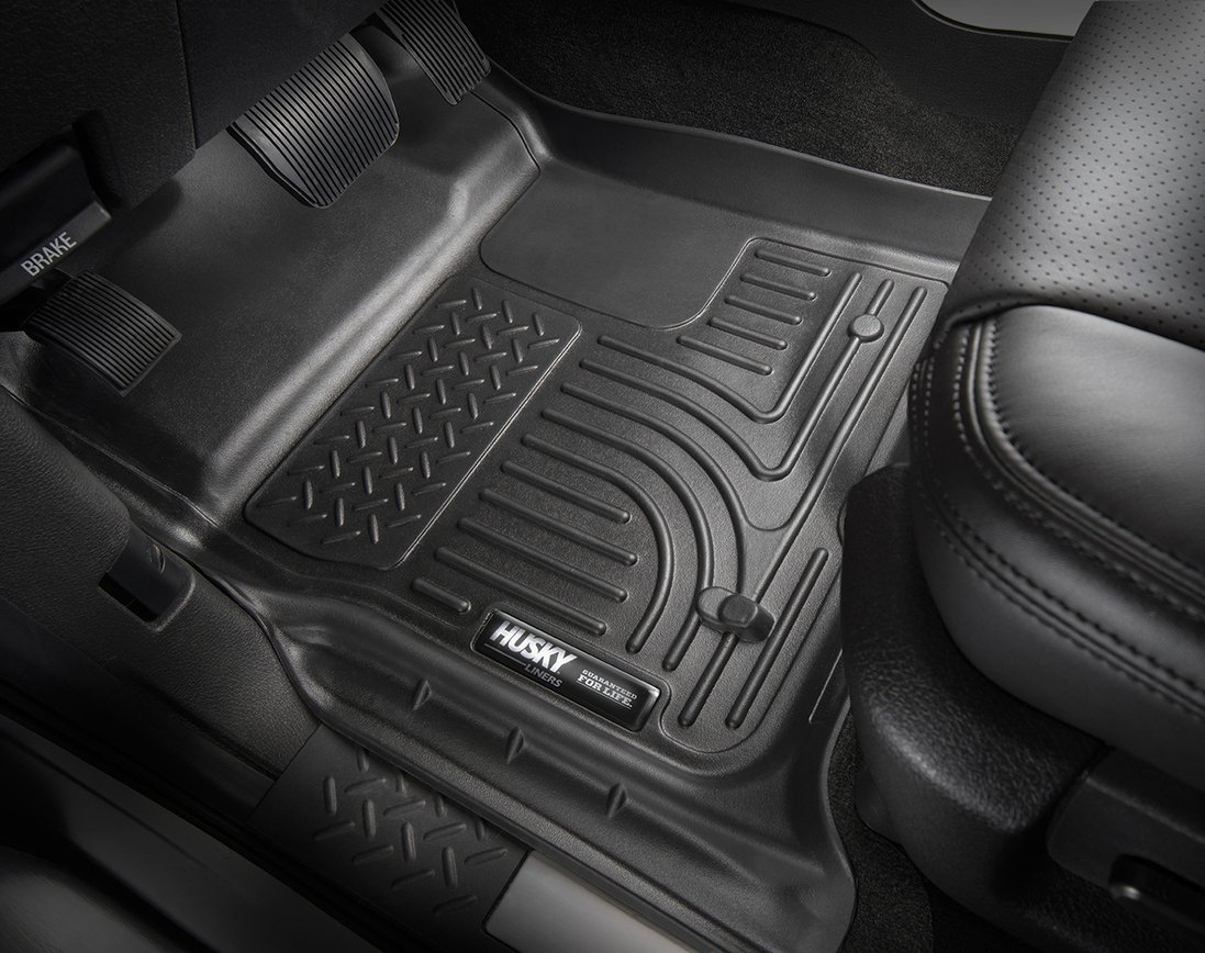 Husky Liners 98461 Black Weatherbeater Front & 2nd Seat Floor Liners Fits 2016-2019 Honda Civic Coupe/Sedan, 2017-2019 Honda Civic Hatchback by Husky Liners (Image #2)