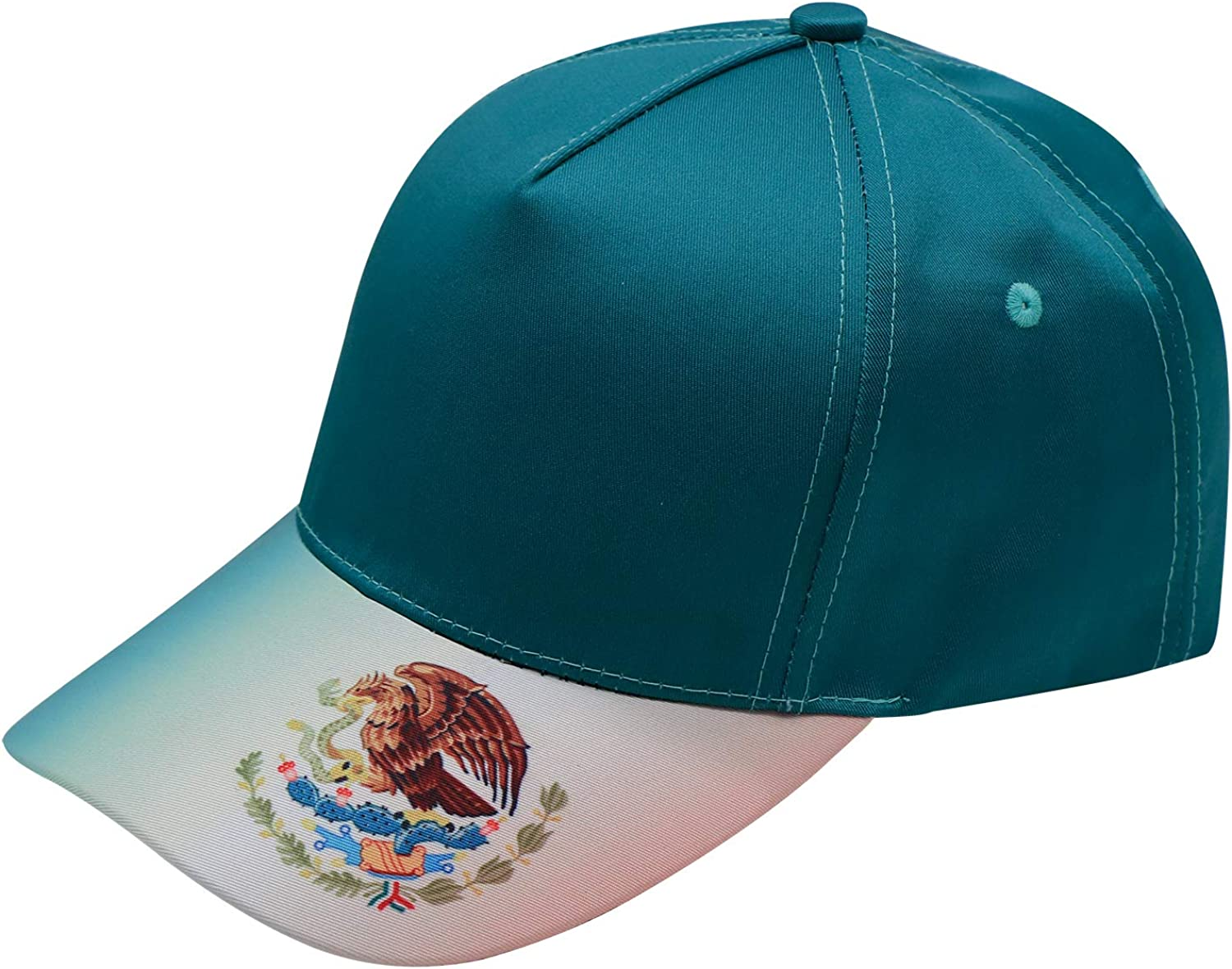 Xie Junsss Camp Upside Down Mexico Flag Baseball Cap,Adult Outdoor Dad Hat Adjustable Snapback Green