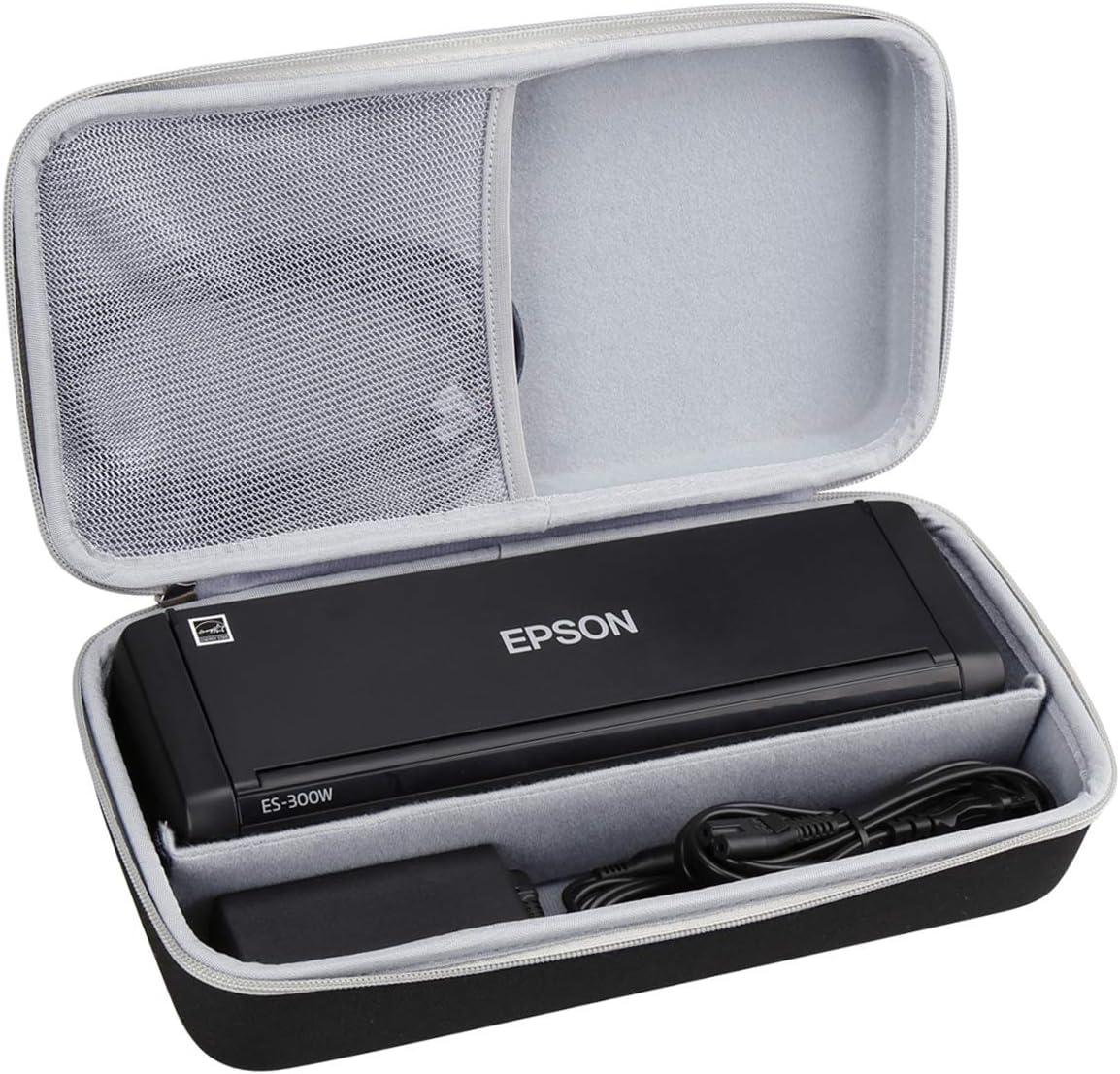 Aproca Hard Carry Travel Storage Case fit Epson Workforce ES-300W ES-200 Wireless Color Portable Document Scanner