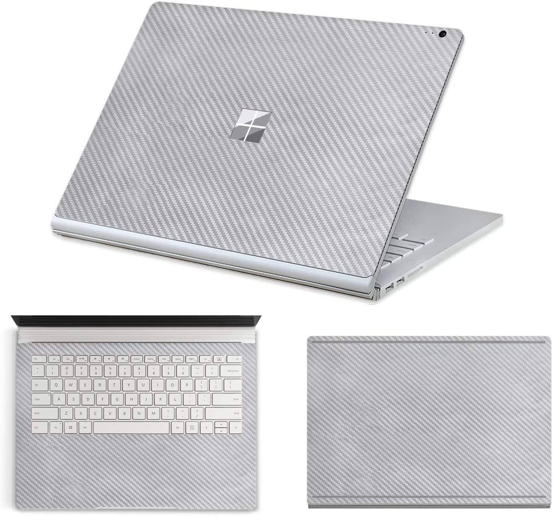 "MasiBloom Full Body Protector Decal Skin Laptop Cover Sticker for 13"" 13.5 inch Microsoft Surface Book 2 Core i5 Standard Configuration Version (2017 Released) (for 13.5"" Book 2, Silver)"