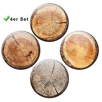 Tronco Discos - stämmige Imanes 4 Juego de 5 cm de diámetro ...