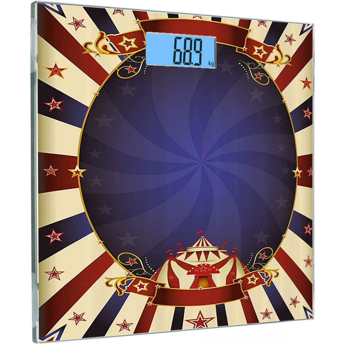 Escala digital de peso corporal de precisión Square Vendimia ...
