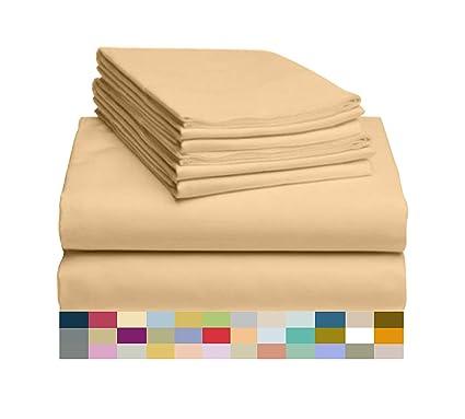 Amazon Com Luxclub 6 Pc Sheet Set Bamboo Sheets Deep Pockets 18
