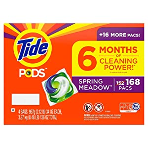 Tide PODS Liquid Laundry Detergent Pacs, Spring Meadow (168 ct.)