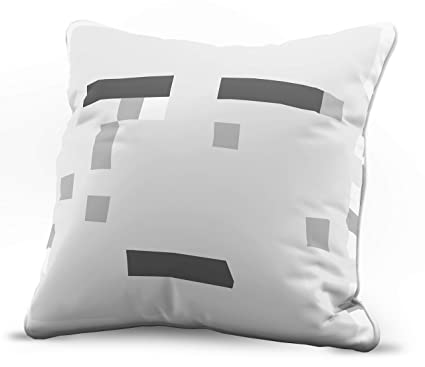 Jay Franco Minecraft Ghost Decorative Pillow Cover Kids Super Soft 1 Pack Throw Pillow Cover Measures 15 Inches X 15 Inches Official Minecraft