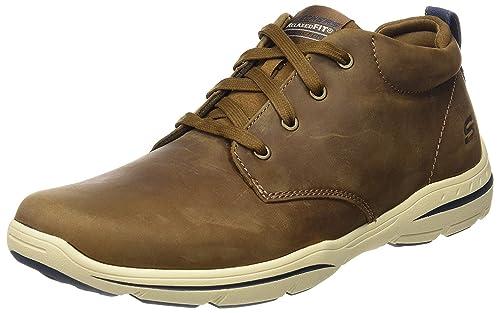 Desert Relaxed Skechers Sneaker Harper Hombre Leather Fit Melden SXqBXw