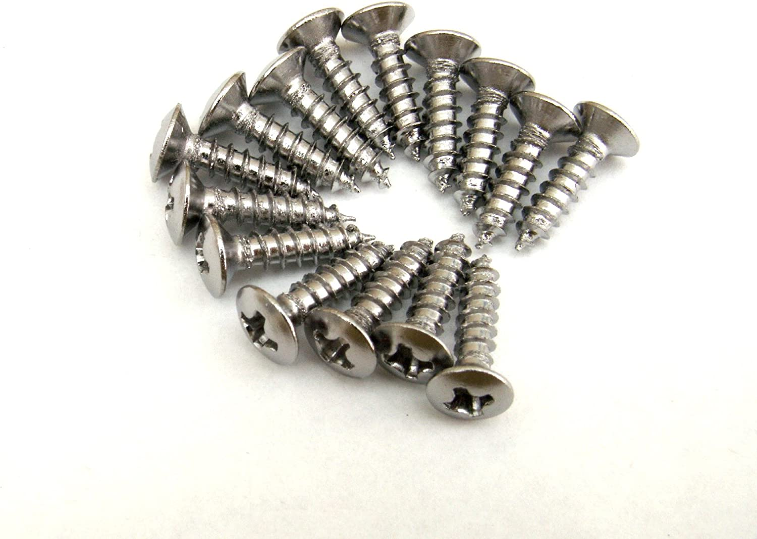 Black or Gold in almost any quantity SCRATCH PLATE PICKGUARD SCREWS; Chrome
