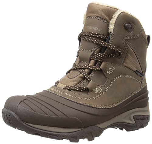 Merrell Women s Snowbound Mid Waterproof High Rise Hiking Shoes ... 3118b7aa95