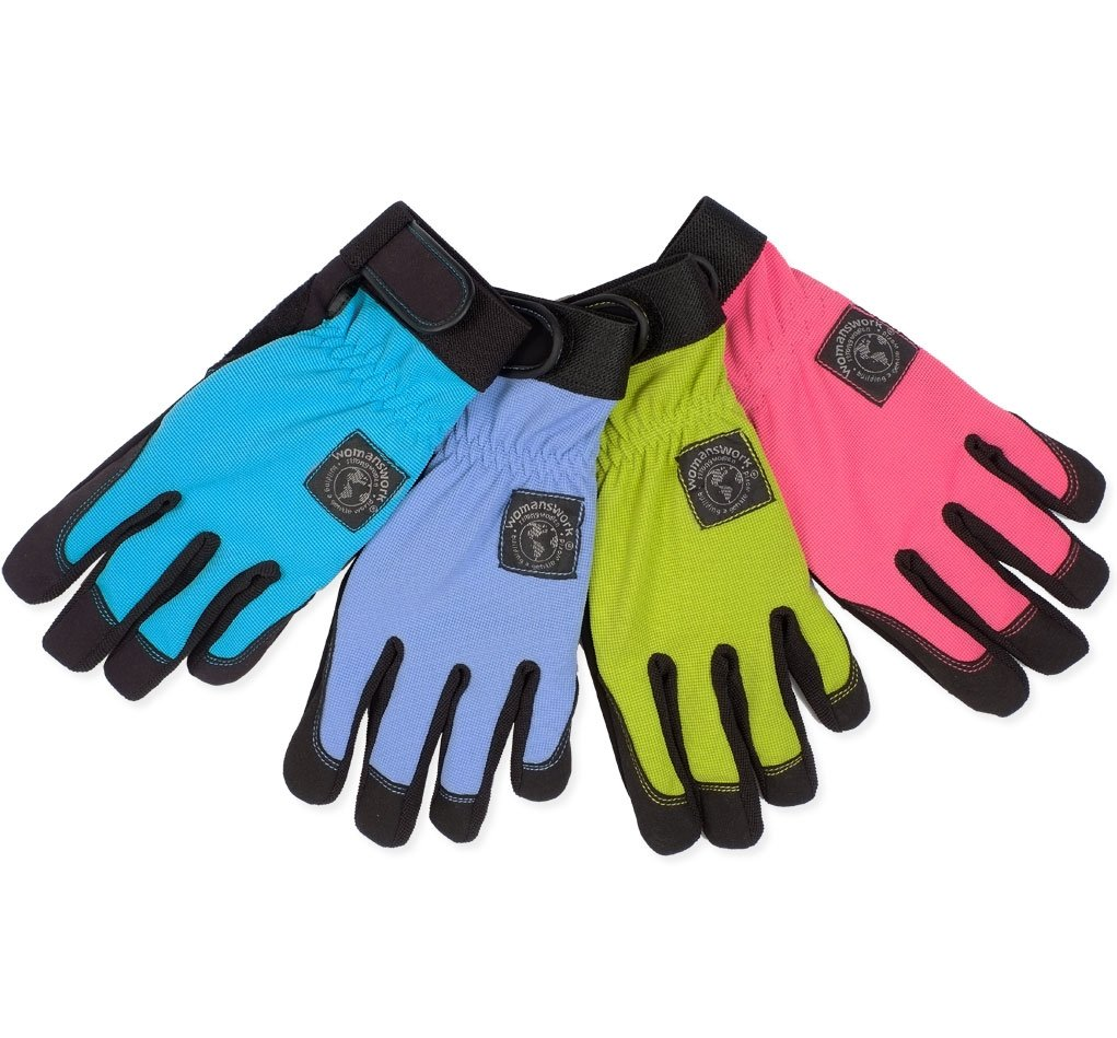 Amazon.com : Womanswork Stretch Gardening Glove With Micro Suede Palm, Lime  Green, Large : Garden U0026 Outdoor