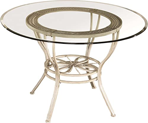 Hillsdale Furniture Round Dining Table, Aged Ivory